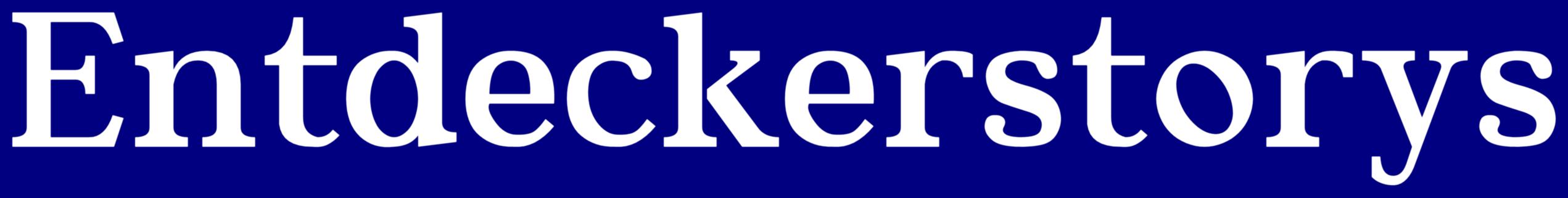 Schrift-Logo Entdeckerstorys