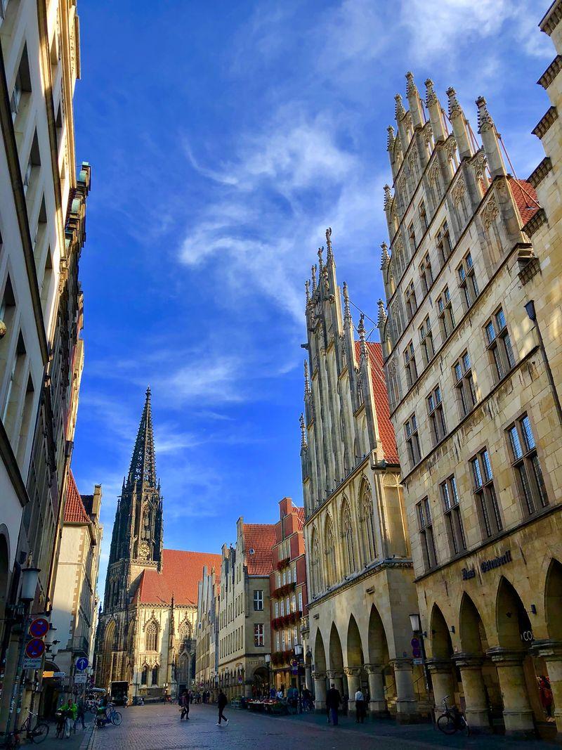 Einer der ersten Anlaufpunkte für Münster-Besucher ist stets der Prinzipalmarkt.