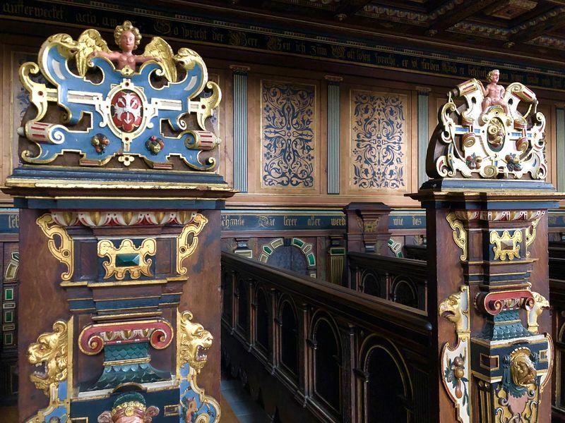 Kaum zu glauben, dass die Kapelle in der Zeit als Kaserne als Fechtsaal diente.