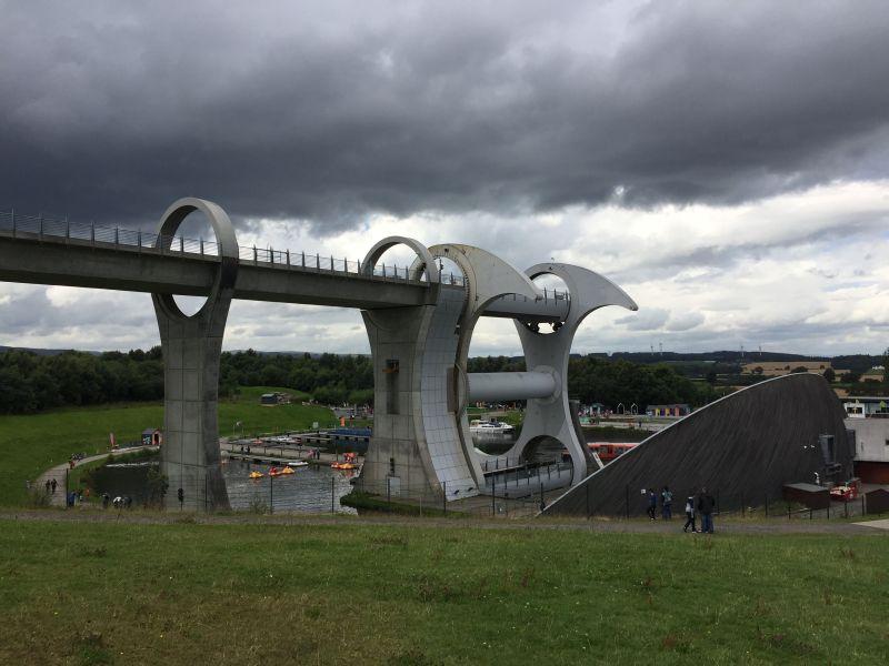 Die beeindruckende Stahlkonstruktion ist insgesamt 35 Meter hoch.