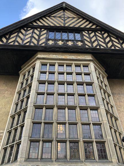 Erbittert verhandelten die Alliierten hinter diesem Fenster während der Potsdamer Konferenz über die Zukunft Deutschlands.