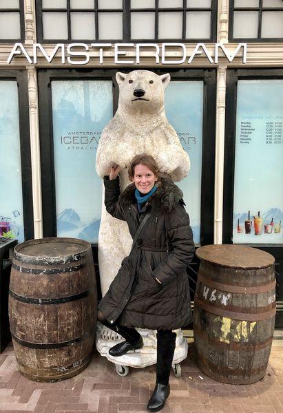 Der Eisbär und ich verstehen uns schon einmal ganz gut. Die Expedition kann beginnen.