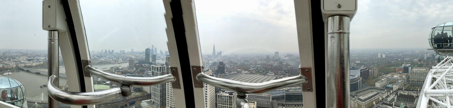 Rundum-Blick in luftiger Höhe: Den gibt es in dieser Form halt nur im London Eye.