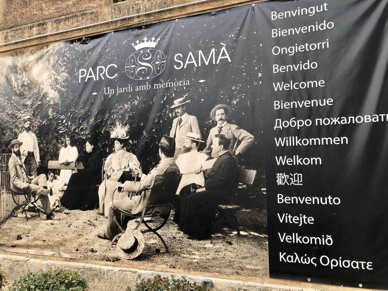 """""""Un jardí amb memòria"""" - """"Ein Garten mit Erinnerung"""": Das ist das Motto des """"Parc Samà""""."""