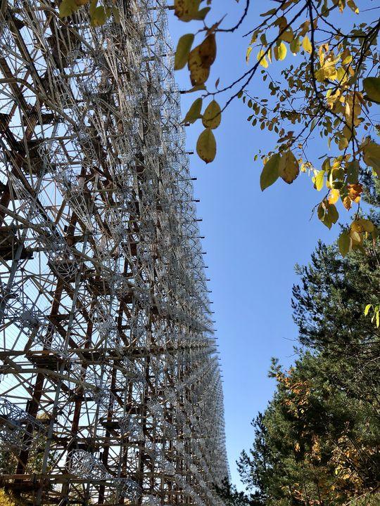 Die 60 Stahlkolosse des Duda-Radars sind bis zu 150 Meter hoch.