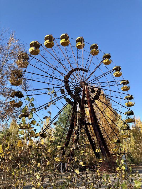 Besuch in Tschernobyl: Das Riesenrad von Pripyat drehte sich nur wenige Male.