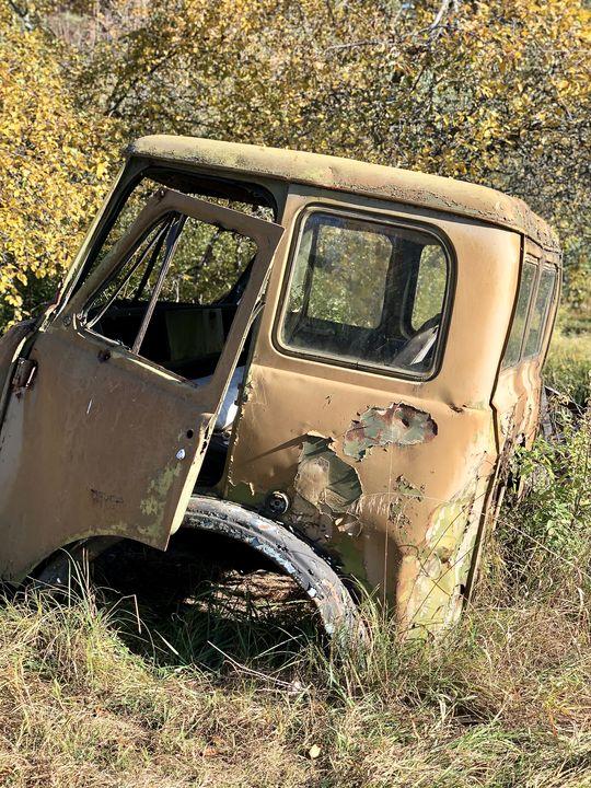 Besuch in Tschernobyl: Zu aufwändig, die kontaminierten Fahrzeuge zu reinigen: Sie blieben in der Zone.