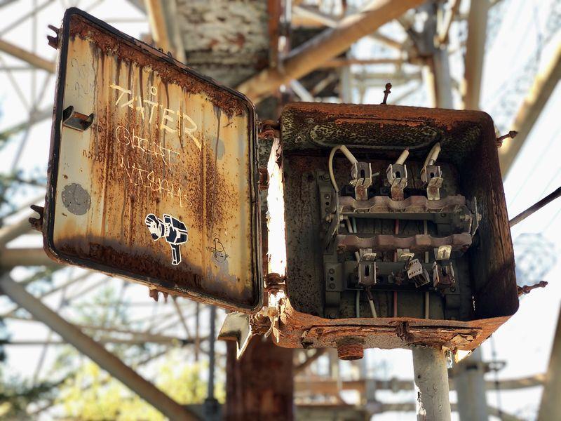 Ihren Strom bezog die gewaltige Horch-Station aus dem nahe gelegenen Kraftwerk Tschernobyl.